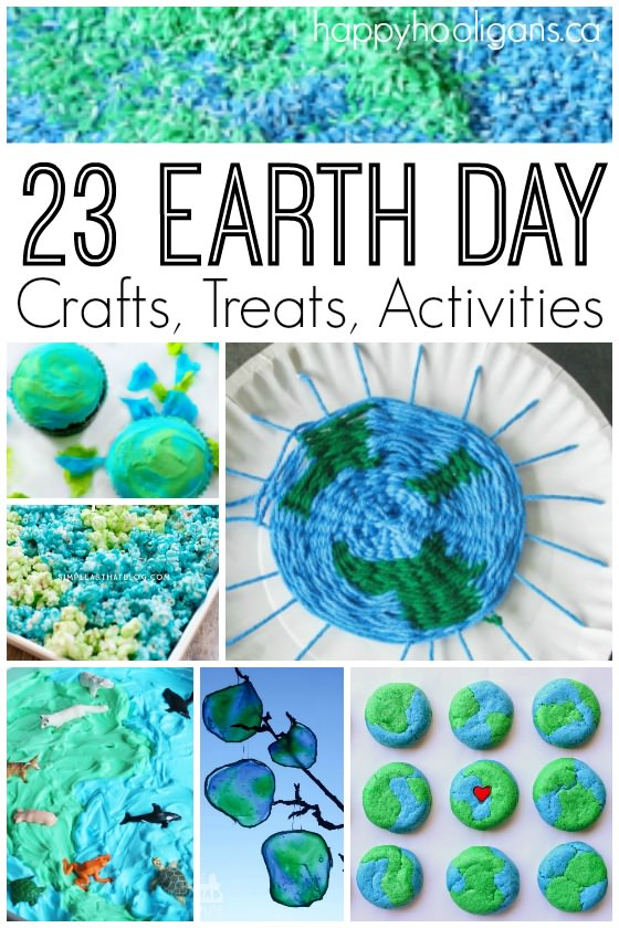 23 Earth Day crafts treats and activities - Happy Hooligans