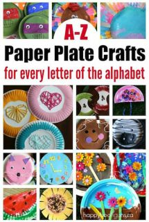 A-Z Paper Plate Crafts for Every Letter of the Alphabet - Happy Hooligans