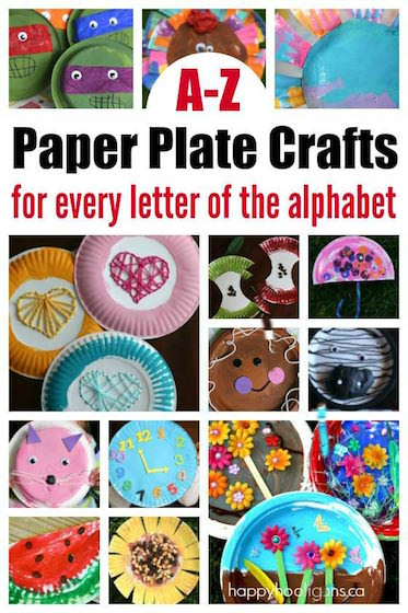 A-Z Paper Plate Crafts for Every Letter of the Alphabet