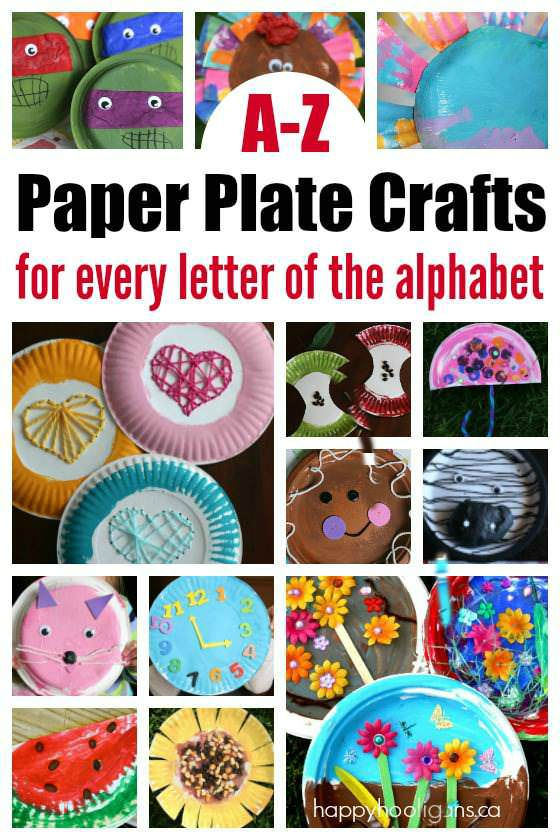 Paper Plate Crafts for Kids to make for Every Letter of the Alphabet - Happy Hooligans