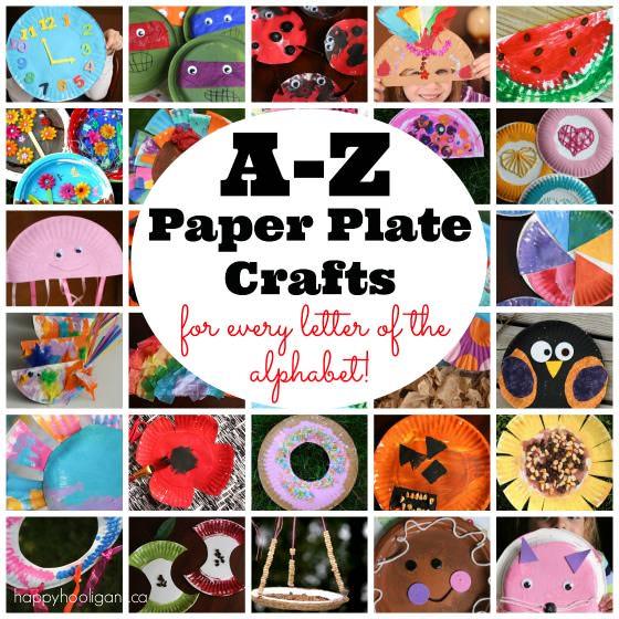 A Z Paper Plate Crafts on Alphabet Crafts