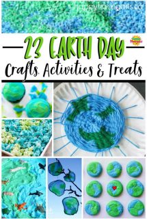 Earth Day Crafts for Kids Feature Collage