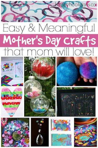 More Easy, Awesome Mother's Day Crafts for Kids to Make