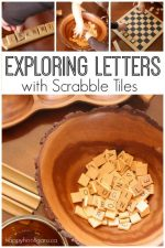 Scrabble Tiles for Learning – Letter Activities for Preschoolers