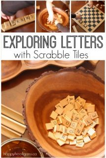 Exploring Letters with Scrabble Tiles - Happy Hooligans