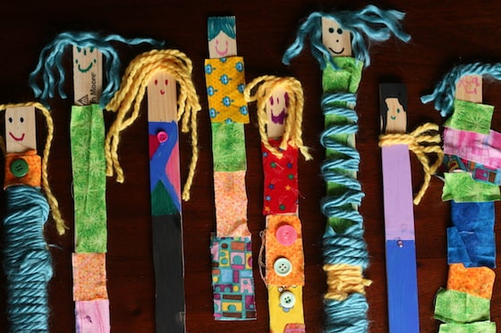 paint stick dolls made by kids ages 4-9