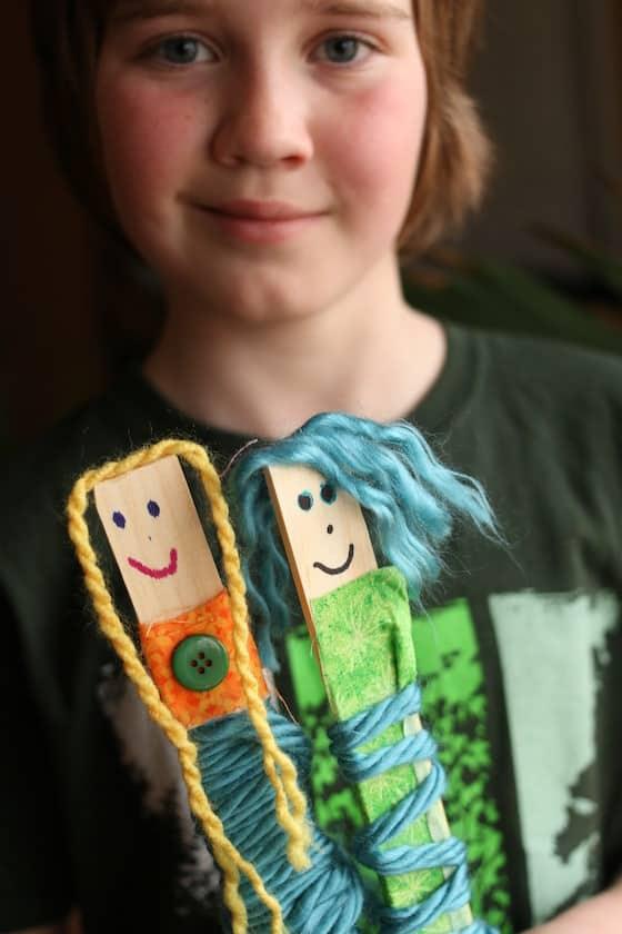 3 paint stick dolls