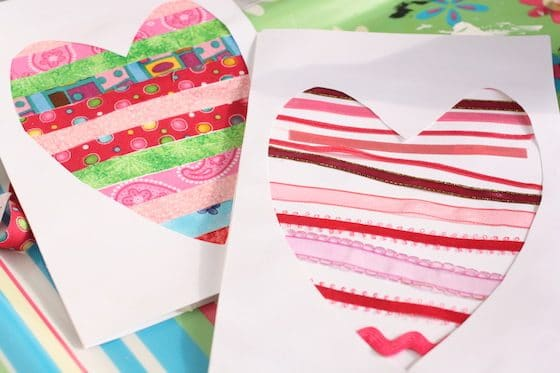 mother's day cards made from ribbon and fabric scraps