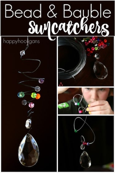 Bead and Bauble Sun Catcher Ornaments