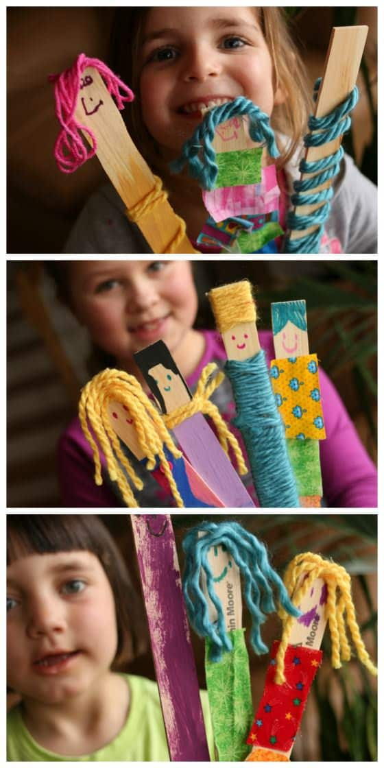 Paint Stick Dolls made by kids