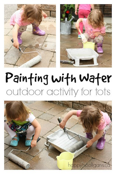 Painting with Water – Outdoor Art Activity for Toddlers and Preschoolers