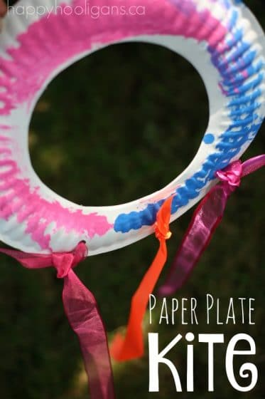 Paper Plate Kite Craft - Happy Hooligans
