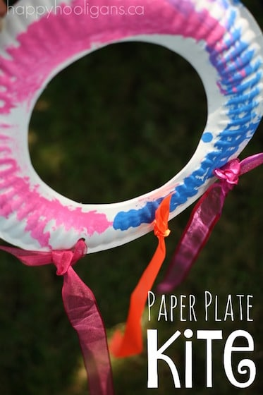 Paper Plate Kite For Toddlers And Preschoolers Happy