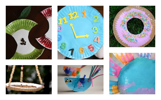 Kids paper plate crafts for letter A C D B and F