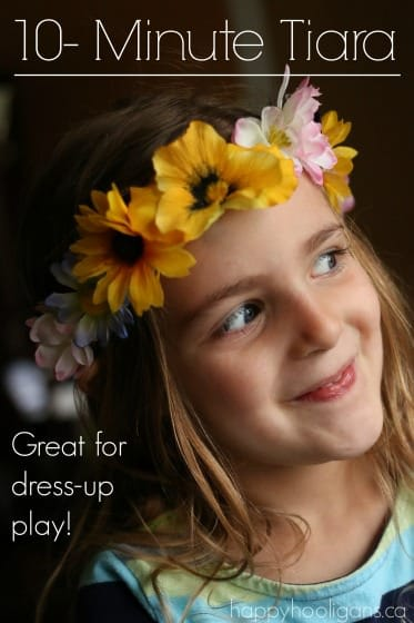 Easy Flowered Tiara Craft for Kids