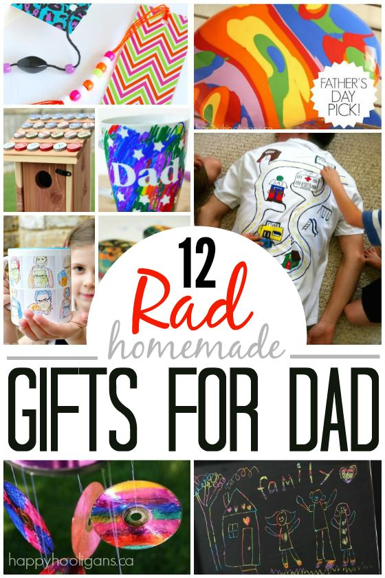 12 Homemade Father's Day Gifts Kids can Make - Happy Hooligans copy