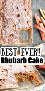 Best Rhubarb Cake Recipe