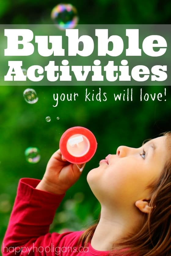 Bubble Activities your kids will love - homemade bubble recipes and blowers, bubble games and activities - Happy