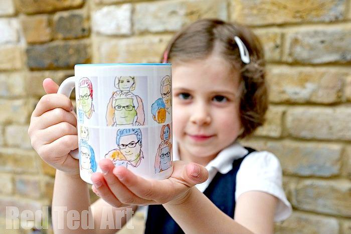 Pop art mug kids can make for dad