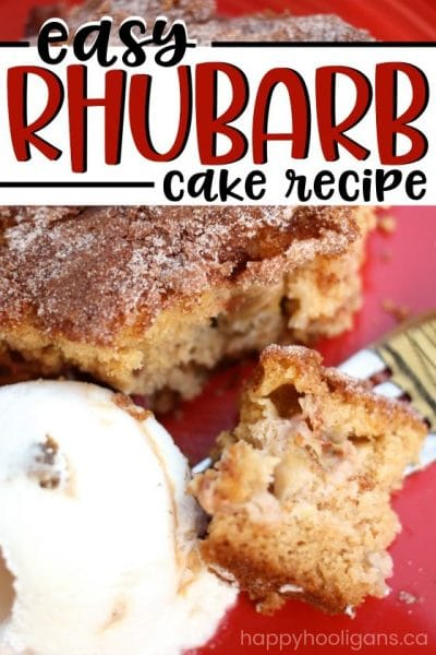 Easy Rhubarb Cake from Scratch