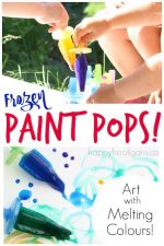 Painting with Frozen Paint Pops