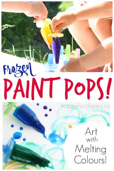 Painting with Frozen Ice Pop
