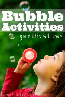 Fun Bubble Activities kids will love