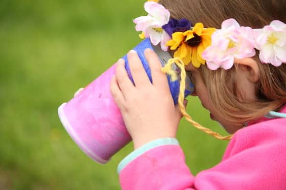 homemade binocular craft for kids