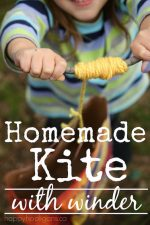 Homemade Paper Bag Kite with Winder Handle