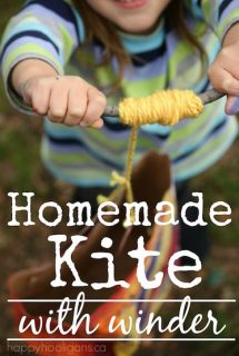 Make a Homemade Paper Bag Kite with Winder