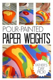 Pour Painting on Rocks – Homemade PaperWeight Craft