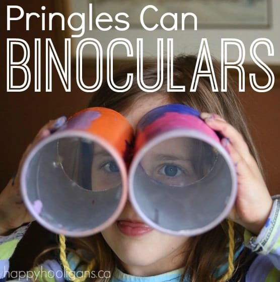 Pringles Can binoculars craft for preschoolers and toddlers
