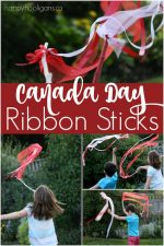 Patriotic Ribbon Twirlers for Kids to Make for Canada Day