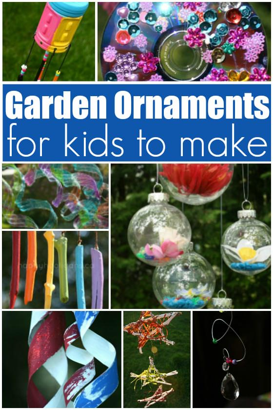 Homemade Garden Ornaments for Kids to Make - Happy Hooligans