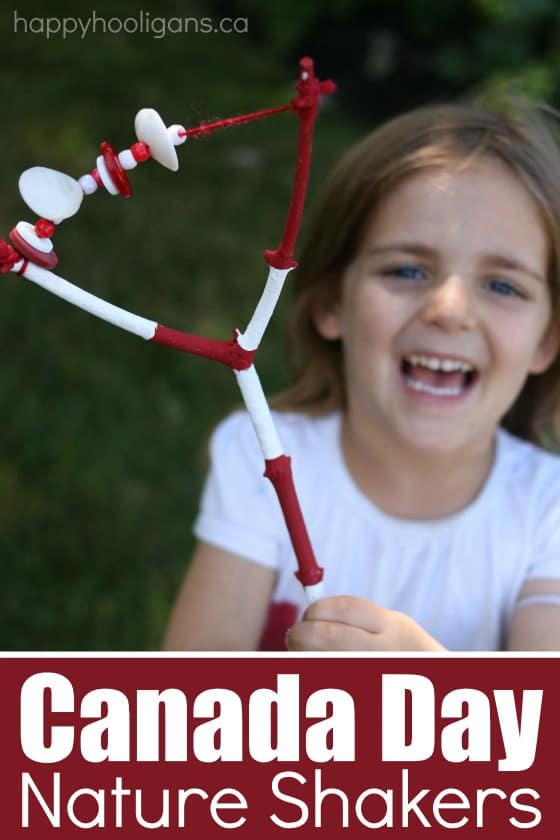 Canada Day Nature Rattles - a fun homemade instrument to make for Canada Day