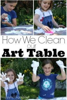 The Funnest, Easiest Way to Clean your Art Table