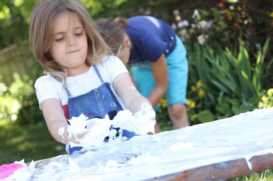 How to Clean your Art Table - a fun chore for kids!