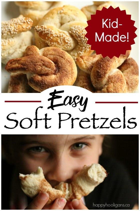 Easy Homemade Soft Pretzels Recipe - Happy Hooligans