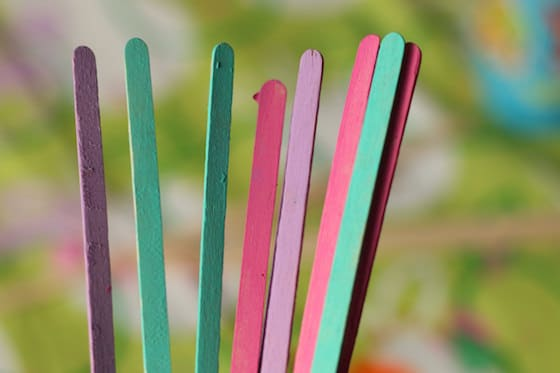 painted starbucks' stir sticks