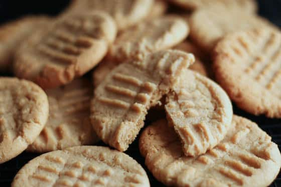 best homemade peanut butter cookies right out of the oven