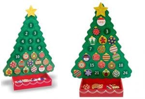 Melissa and Doug wooden Christmas Tree Advent Calendar