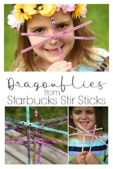 Dragonfly Craft from Starbucks Stir Sticks