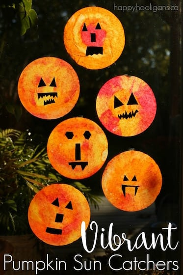Easy Pumpkin Sun Catchers – a Vibrant Halloween Craft for Kids