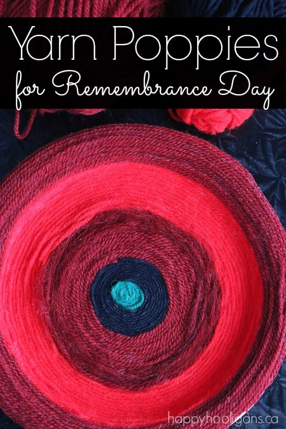Yarn Poppy Craft for Remembrance Day - Happy Hooligans