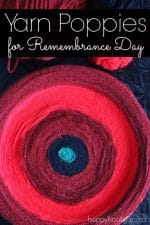 Easy Yarn Poppy Craft for Remembrance Day