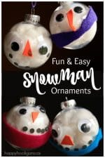 Easy {Adorable} Snowman Ornament for Kids to Make
