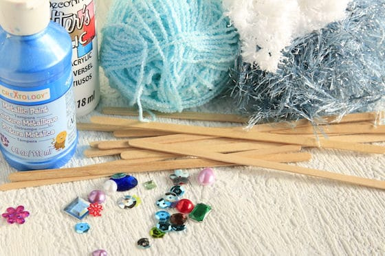 supplies for woven snowflake ornaments