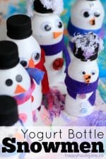 Adorable Yogurt Bottle Snowmen
