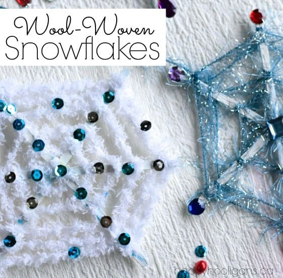 Starbucks stick snowflake craft