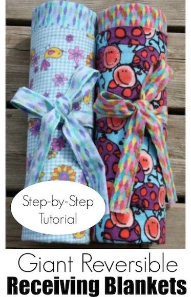How to Make Extra-Large, Reversible, Flannel Receiving Blankets for Baby